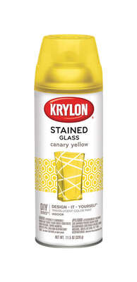 Krylon Stained Glass Translucent Canary Yellow Spray Paint 11.5 oz.