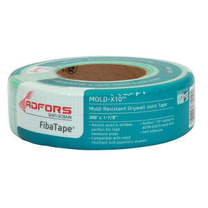FibaTape  Mold X-10  300 ft. L x 2 in. W Green  Self Adhesive Drywall Tape  Fiberglass Mesh