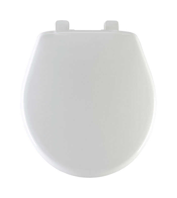 Mayfair Slow Close Round White Plastic Toilet Seat Ace