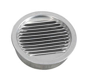 Air Vent  4 in. W x 4 in. L Mill  Silver  Aluminum  Mini Louver