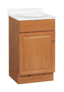 Continental Cabinets  Single  Oak  Oak  Vanity Combo  18 in. W x 16 in. D x 32 in. H