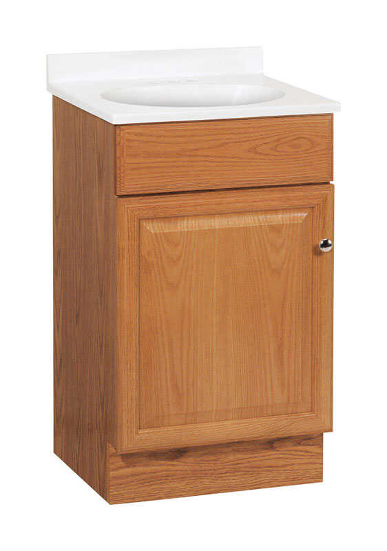 Combination Vanity Units For Small Bathrooms: Continental Cabinets Single Oak Vanity Combo 18 In. W X 16