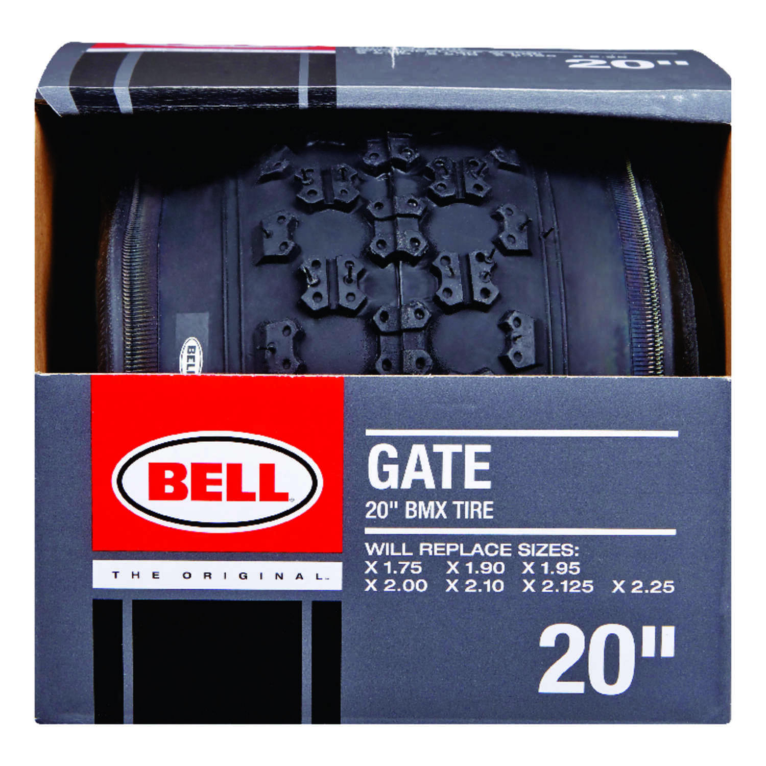 Bell Sports  Gate  20 in. Rubber  Bicycle Tire  20 x 1.75 - 2.25  1 pk