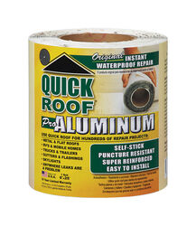 Quick Roof 6 in. W x 25 ft. L Aluminum Self Stick Instant Waterproof Repair and Flashing Silver