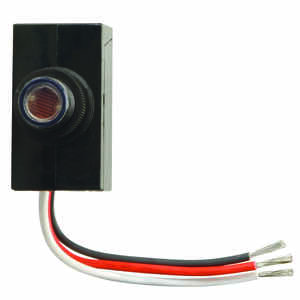 Woods  Black  Photoelectric  Light Control  1 pk