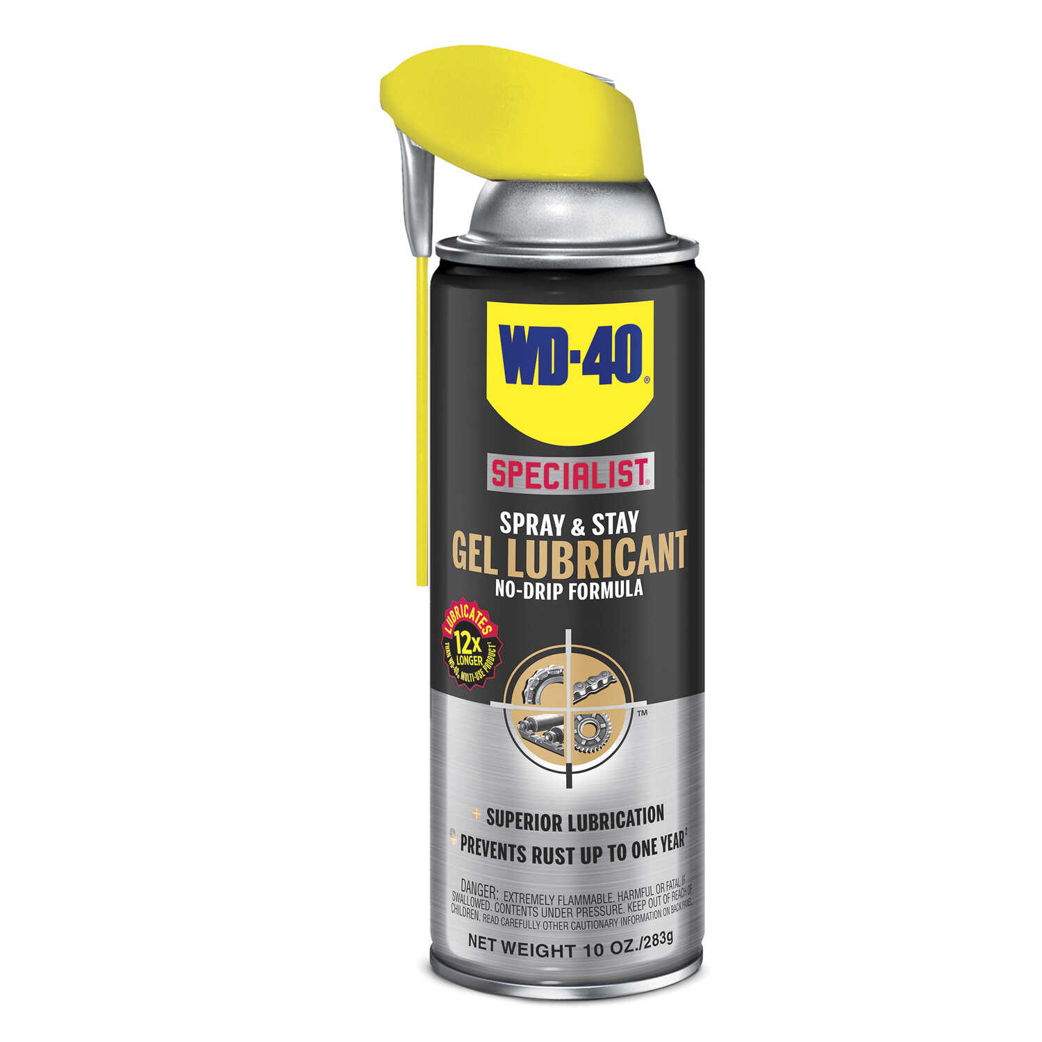 WD-40  Specialist Spray & Stay  Gel  Lubricant  Can