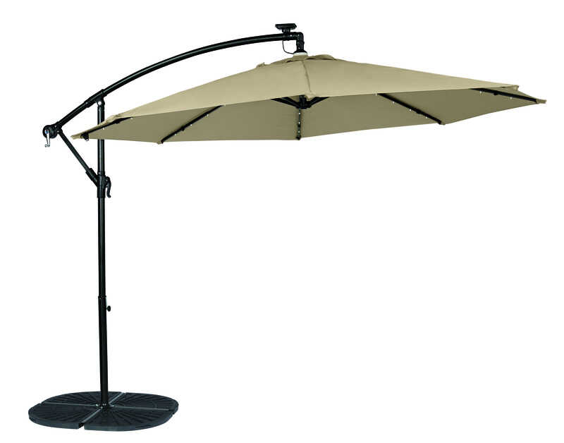 Tiltable Tan Patio Umbrella - Living Accents Offset 10 Ft. Tiltable Tan Patio Umbrella - Ace Hardware