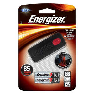 Energizer  85 lumens Black  LED  Cap Light  AAA
