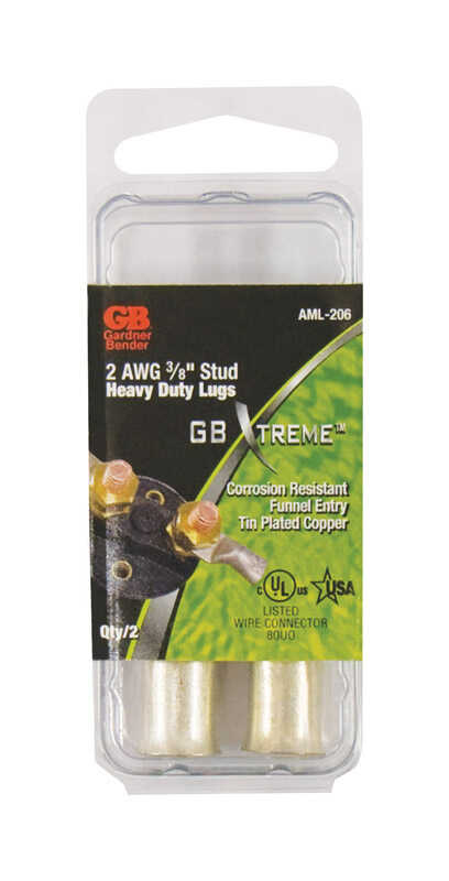 Gardner Bender  Xtreme  2 Ga. Insulated Wire  Electrical Lug  2 pk