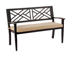 Living Accents  Bench  Steel  36.22 in. H x 24.8 in. L x 47.83 in. D