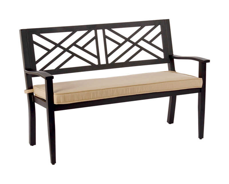 Living Accents  Bench  Steel  36.22 in. H x 47.83 in. D x 24.8 in. L