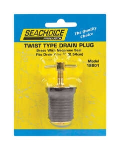 Seachoice  6.8 in. L x 1 in. W Drain Plug  1 pc. Brass