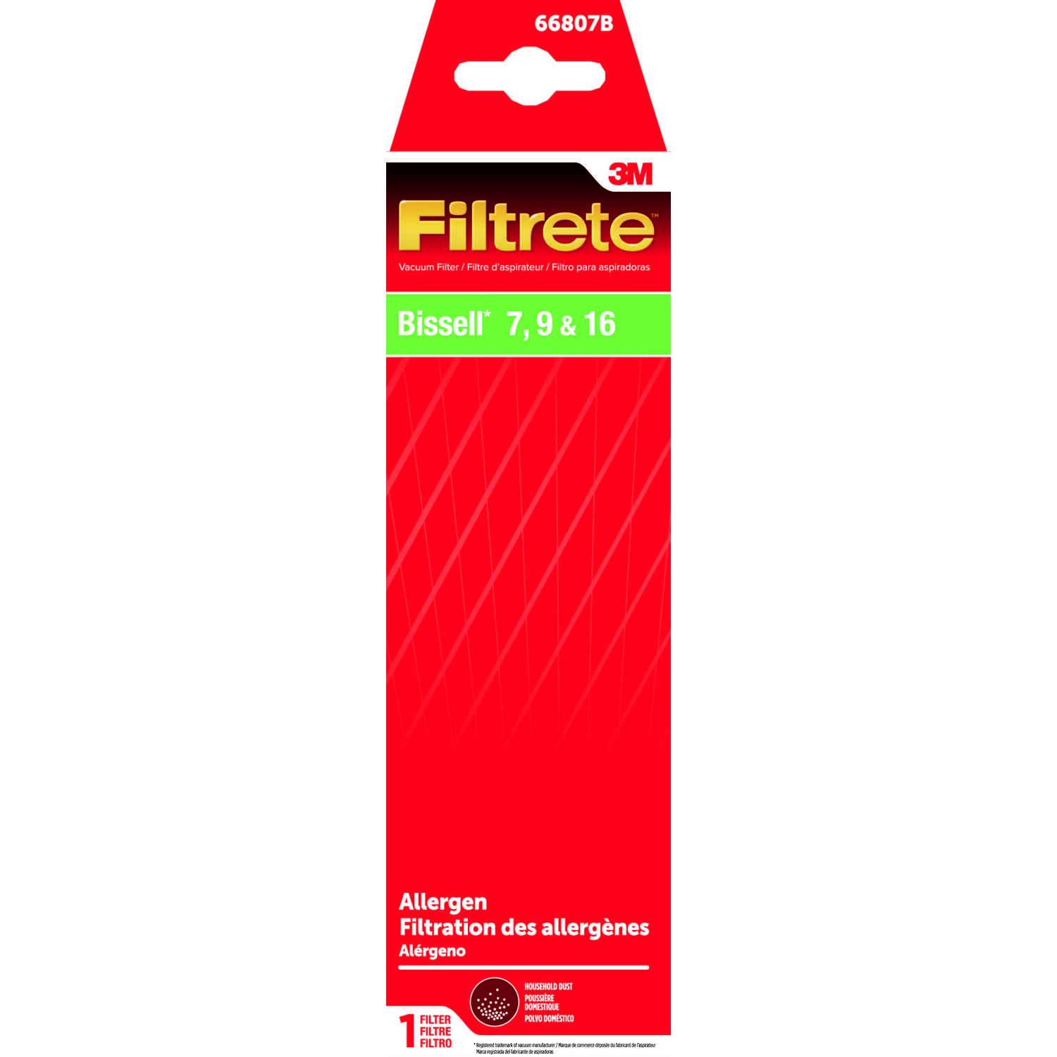 3M  Filtrete  Vacuum Filter  For Bissell 7-9-16 1 pk