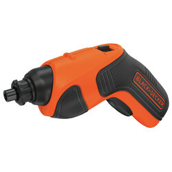 Black and Decker 1/4 in. Cordless Rechargeable Screwdriver Kit 4 volt 180 rpm
