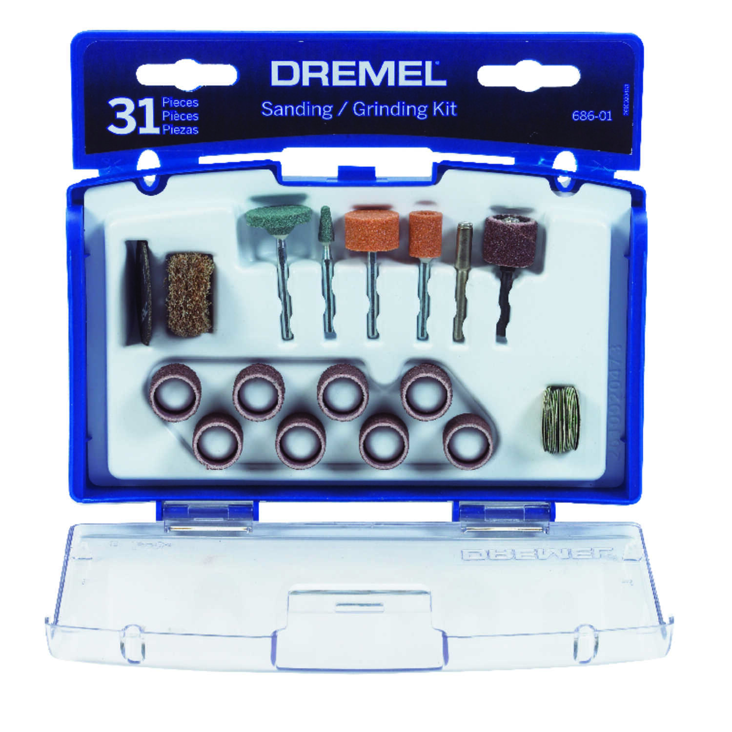 Dremel  7 in   x 7 in. L Sanding and Grinding Kit  Aluminum  31 pk
