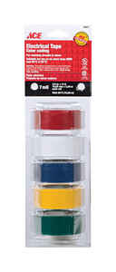 Ace  3/4 in. W x 12 ft. L Multicolored  Plastic  Electrical Tape