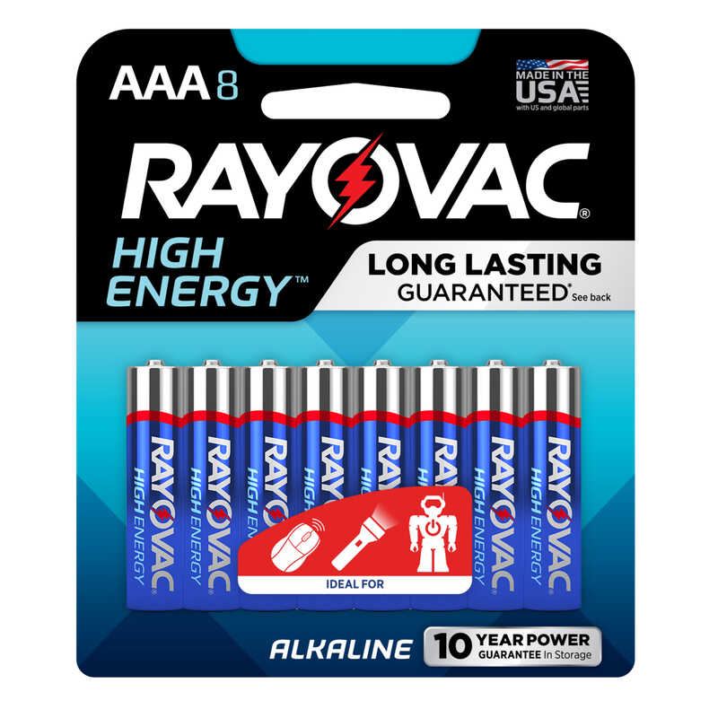 Rayovac  AAA  Alkaline  Batteries  8 pk 1.5 volts Carded