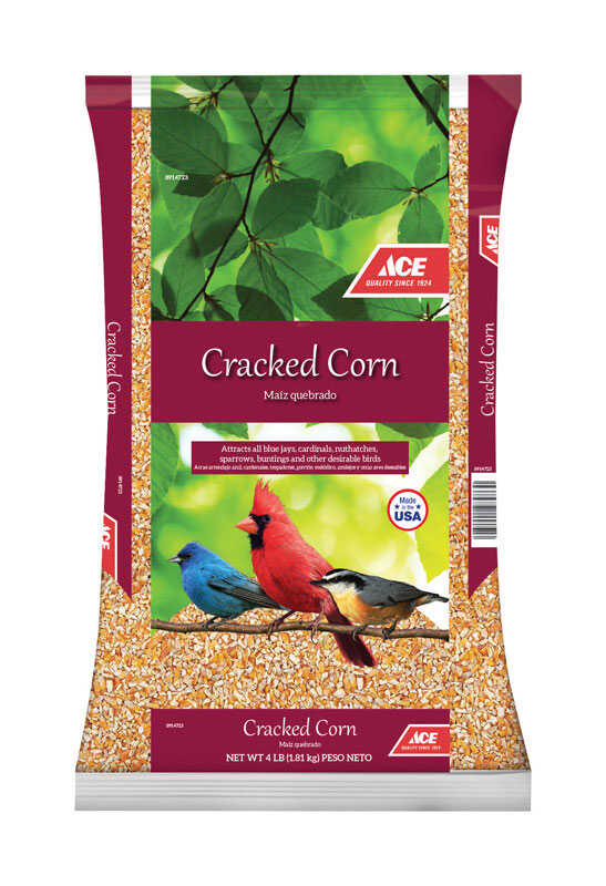 Ace  Assorted Species  Wildlife Food  Cracked Corn  4 lb.