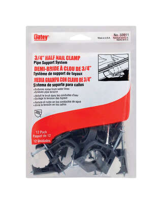 Oatey  3/4 in. Gray  Polypropylene  Half Nail Clamp