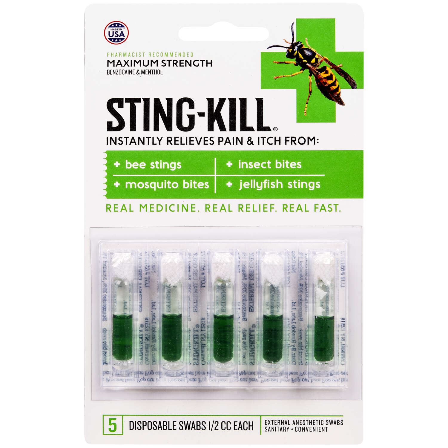 Sting Kill  Anesthetic Swabs  5 pk