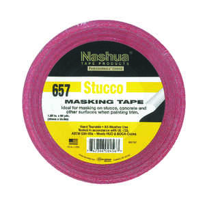 Nashua  1.89 in. W x 60 yd. L Red  Regular Strength  Masking Tape  1 pk Stucco