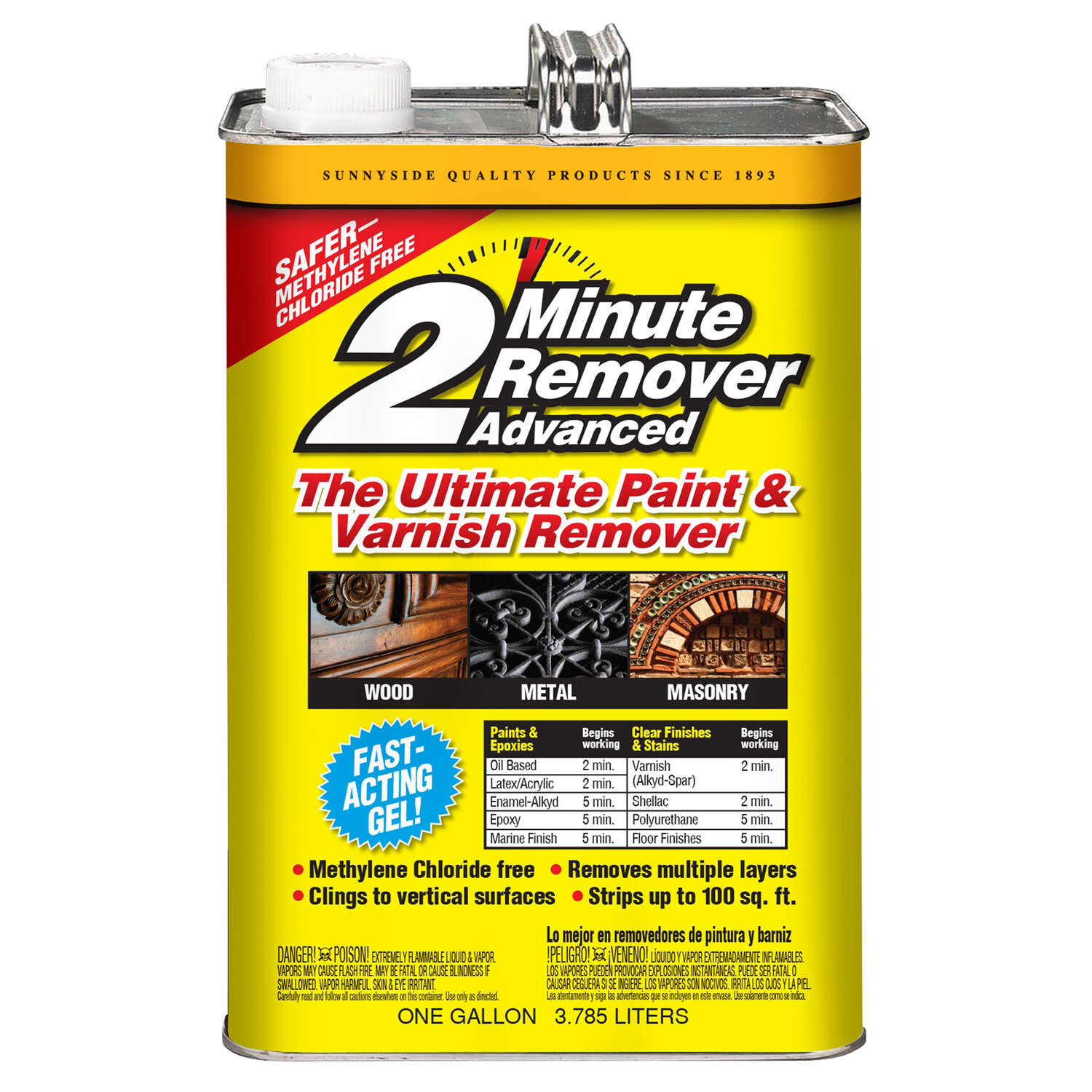 Sunnyside  2 Minute Remover Advanced  Paint and Varnish Remover  1 gal.