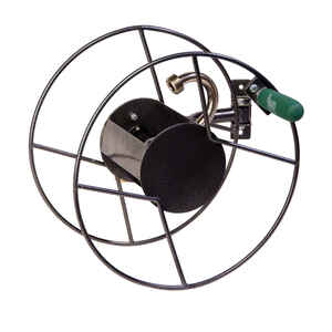 Yard Butler  75 ft. Wall Mount  Silver  Hose Reel