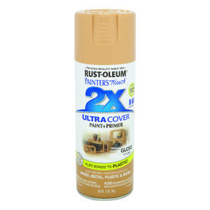 Rust-Oleum  Painter's Touch Ultra Cover  Gloss  Khaki  Spray Paint  12 oz.