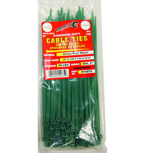 Tool City  8 in. L Cable Tie  100 pk Green