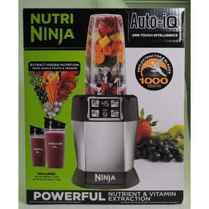 Ninja  Nutri Ninja  Black/Silver  Metal/Plastic  Blender  24 oz. 2 speed