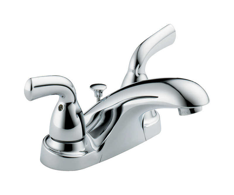 Delta  Foundations  Two Handle  Lavatory Pop-Up Faucet  4 in. Chrome