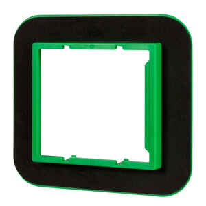 Madison Electric  Draft Seal  Rectangle  2 Gang  Draft Seal Kit  Black/Green  PVC