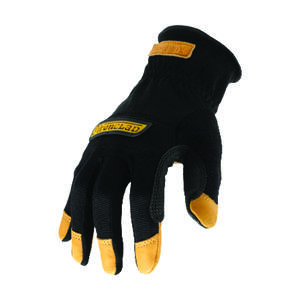 Ironclad  Universal  Leather  Cowboy  Gloves  Black  XL  1 pair