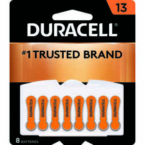Duracell  Zinc Air  13  1.4 volt Hearing Aid Battery  8 pk