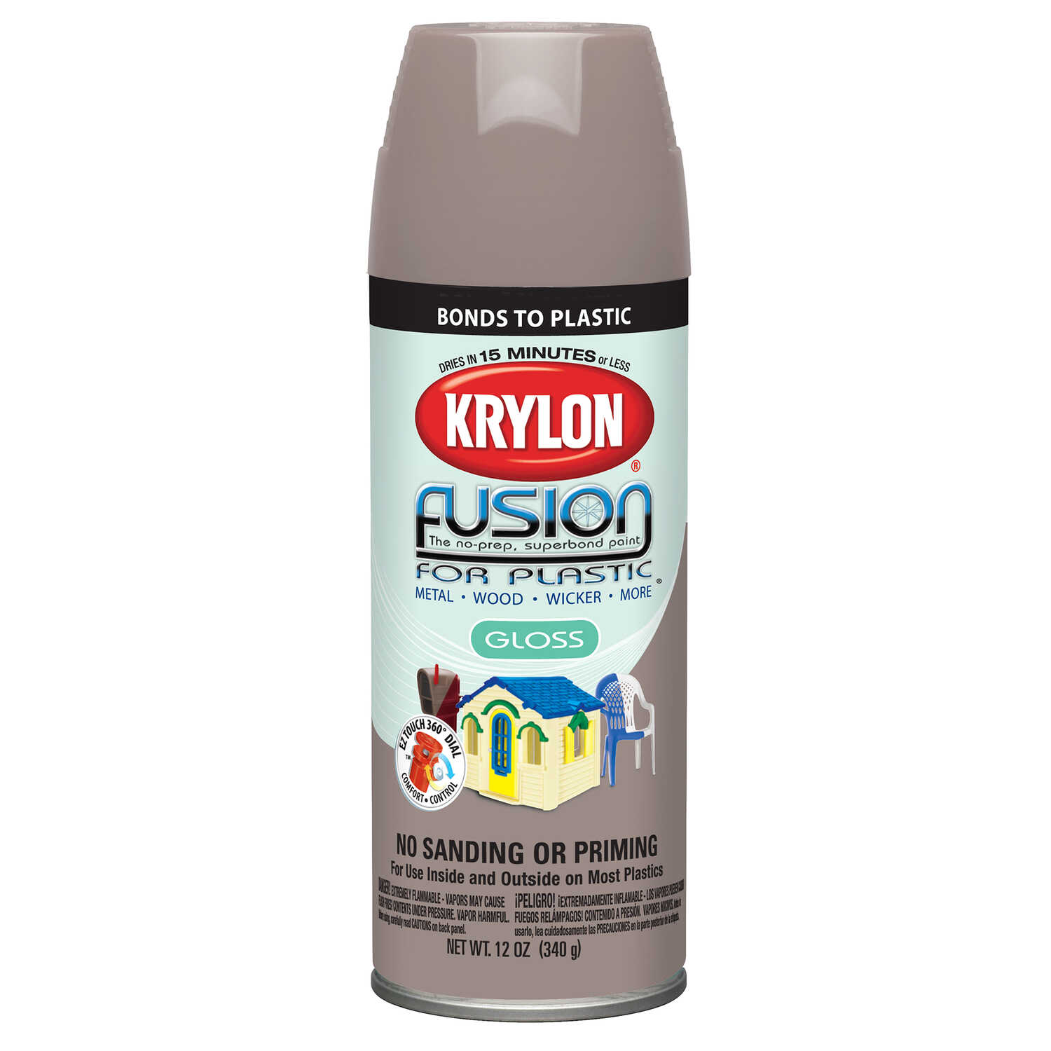Krylon  Gloss  River Rock  12 oz. Fusion Spray Paint