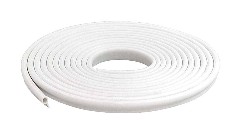 M-D Building Products  White  Vinyl  17 ft. L x 1/2 in.  Weather Stripping  For Door and Window