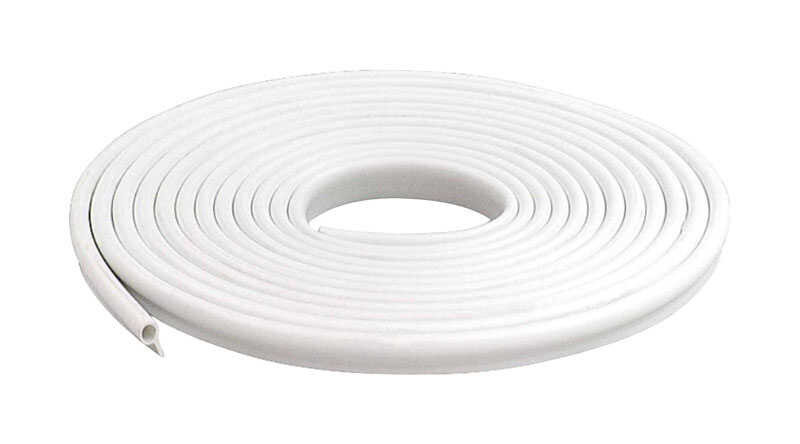 M-D Building Products  White  Vinyl  Weather Stripping  For Door and Window 17 ft. L x 1/2 in.