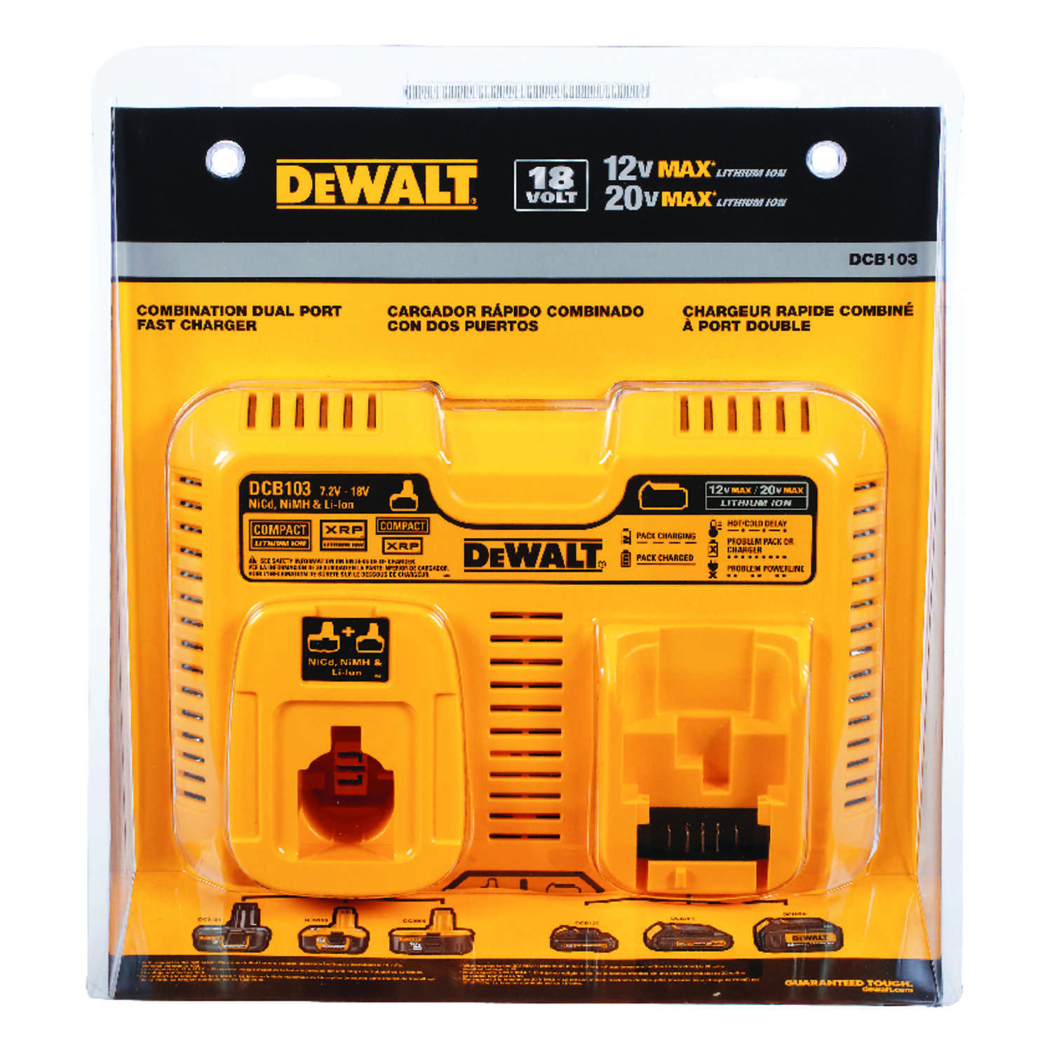 DeWalt  Dual Battery Charger  1 pc. Lithium-Ion  12 volts