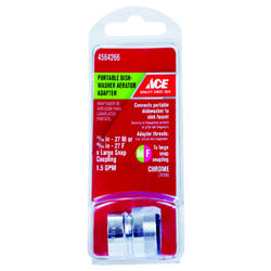 Ace  Chrome  55/64 in.  x 15/16 in.  Aerator Adapter  1 pack