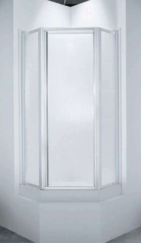 Sterling  Intrigue  38 in. W x 72 in. H Framed  Silver  Shower Door