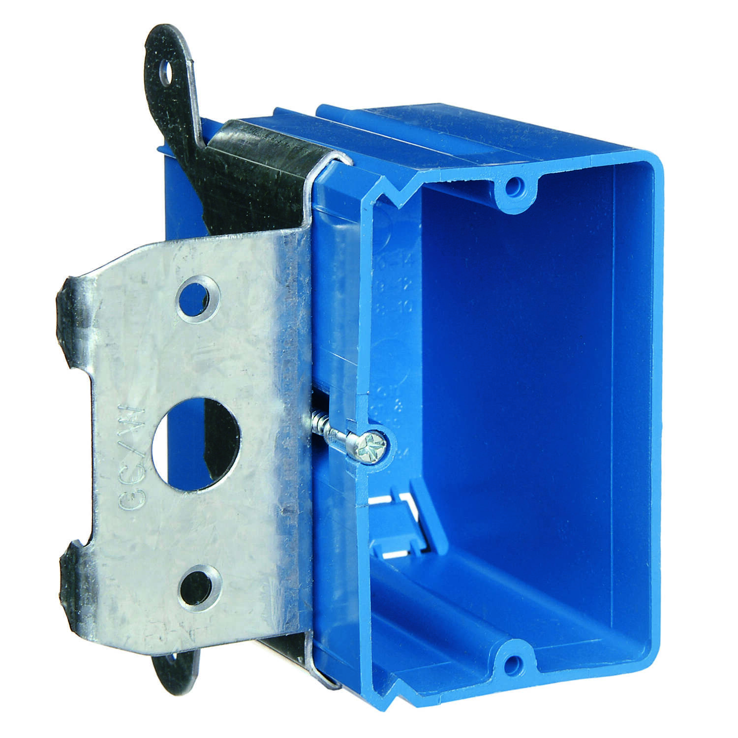 Carlon  Rectangle  PVC  1 gang 3-3/4 in. Outlet Box  1 Gang  Blue