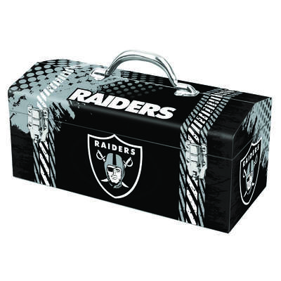 Windco 16.25 in. Steel Oakland Raiders Art Deco Tool Box 7.1 in. W x 7.75 in. H