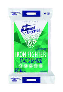 Diamond Crystal  Iron Fighter  Water Softener Salt  Pellets  40 lb.