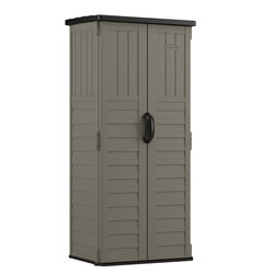 Suncast  6  H x 2.7  W x 2  D Gray  Resin  Vertical Storage Shed