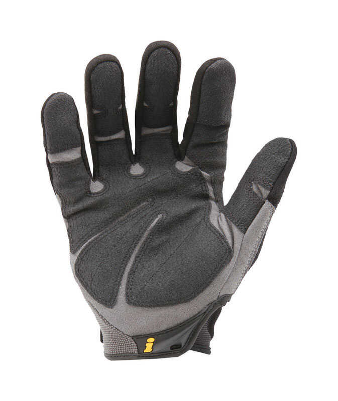 Ironclad  Men's  Synthetic Leather  Heavy Duty  Gloves  Black/Gray  Extra Large  1 pair