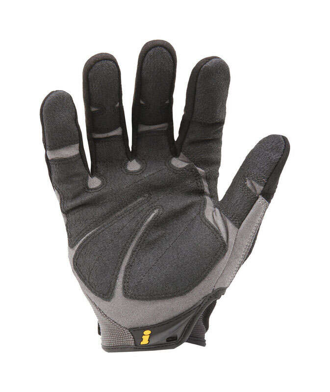 Ironclad  Men's  Synthetic Leather  Heavy Duty  Black/Gray  Gloves  Extra Large