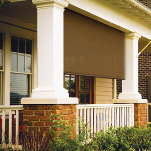 Coolaroo  Brown  Roll-Up Exterior Window Shade