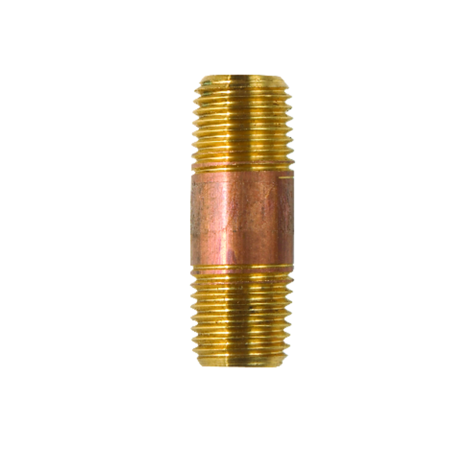 JMF  1/4  MPT   x 1/4 in. Dia. MPT  Nipple  Red Brass  Pipe Nipple
