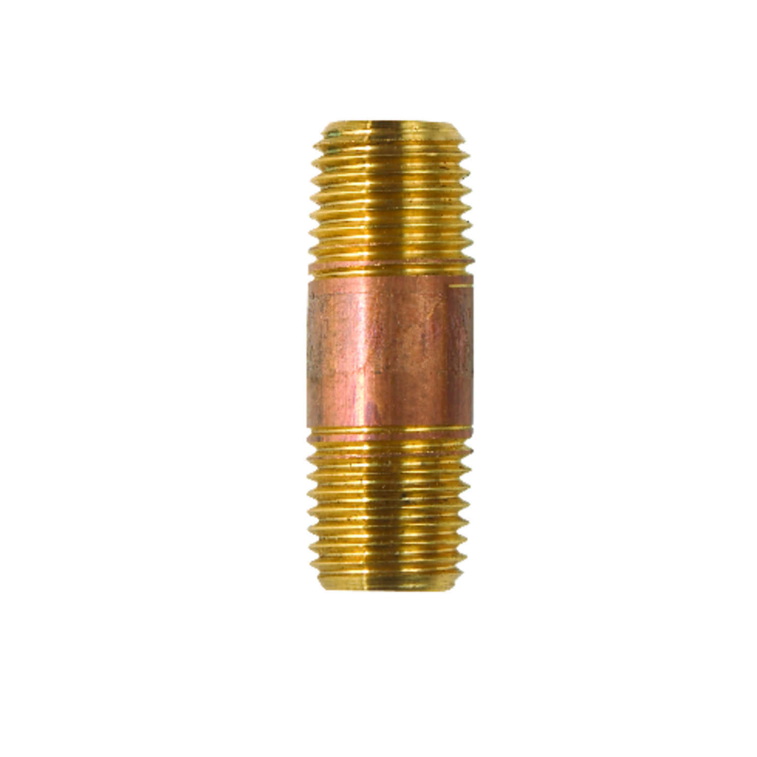 JMF  1/4 in. MPT   x 1-1/2 in. L Red Brass  Nipple