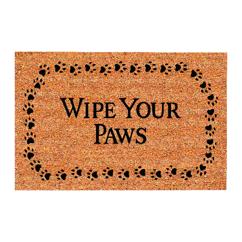 Decoir Wipe Your Paws Tanblack Coir Nonslip Door Mat 18 In L X 30